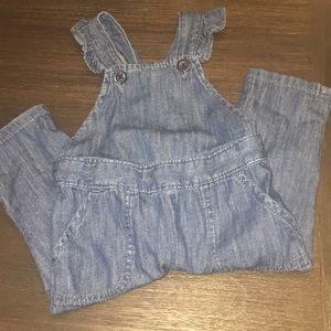 Baby gap denim jumper overalls
